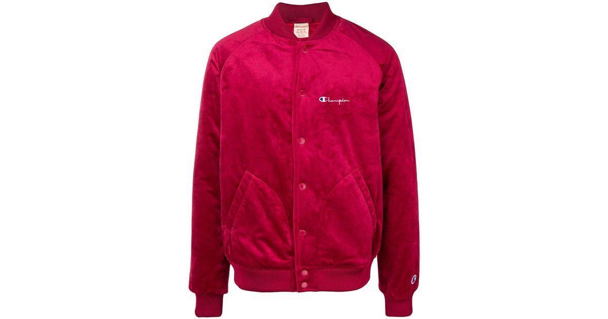 bbb0eab8a Champion Red Velvet Bomber Jacket for men