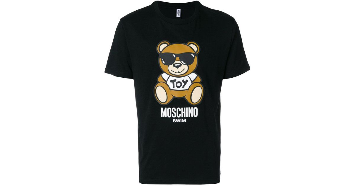 35d4f55a56 Moschino Black Crew Neck Toy Bear T-shirt for men