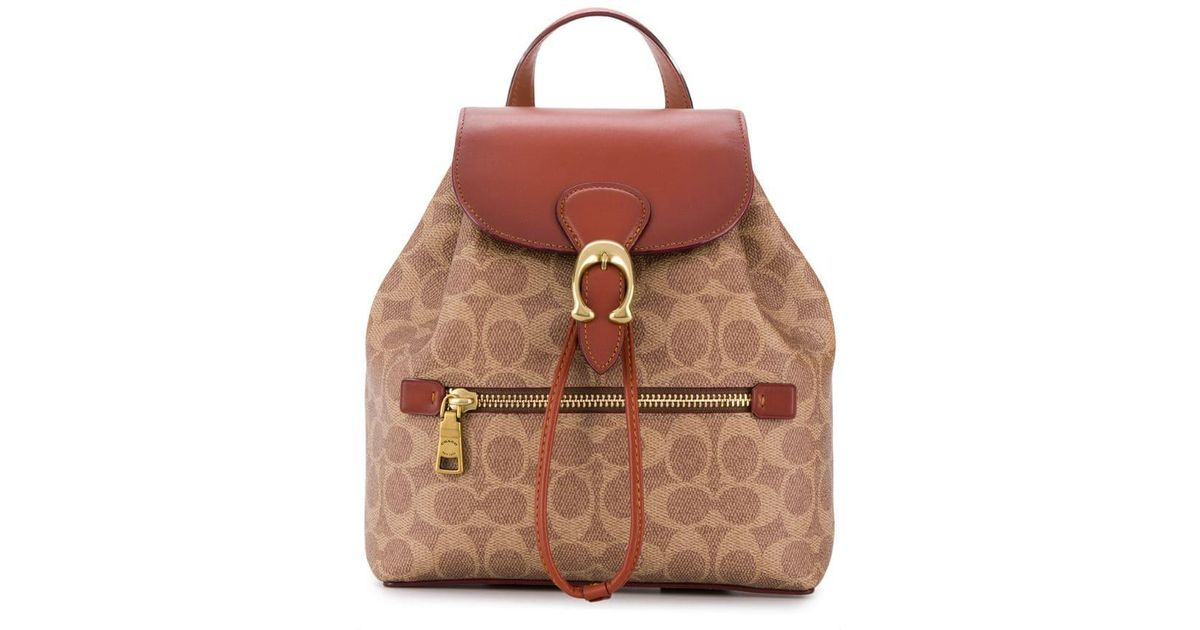 88a5c973b COACH Evie Backpack In Signature Canvas - Lyst