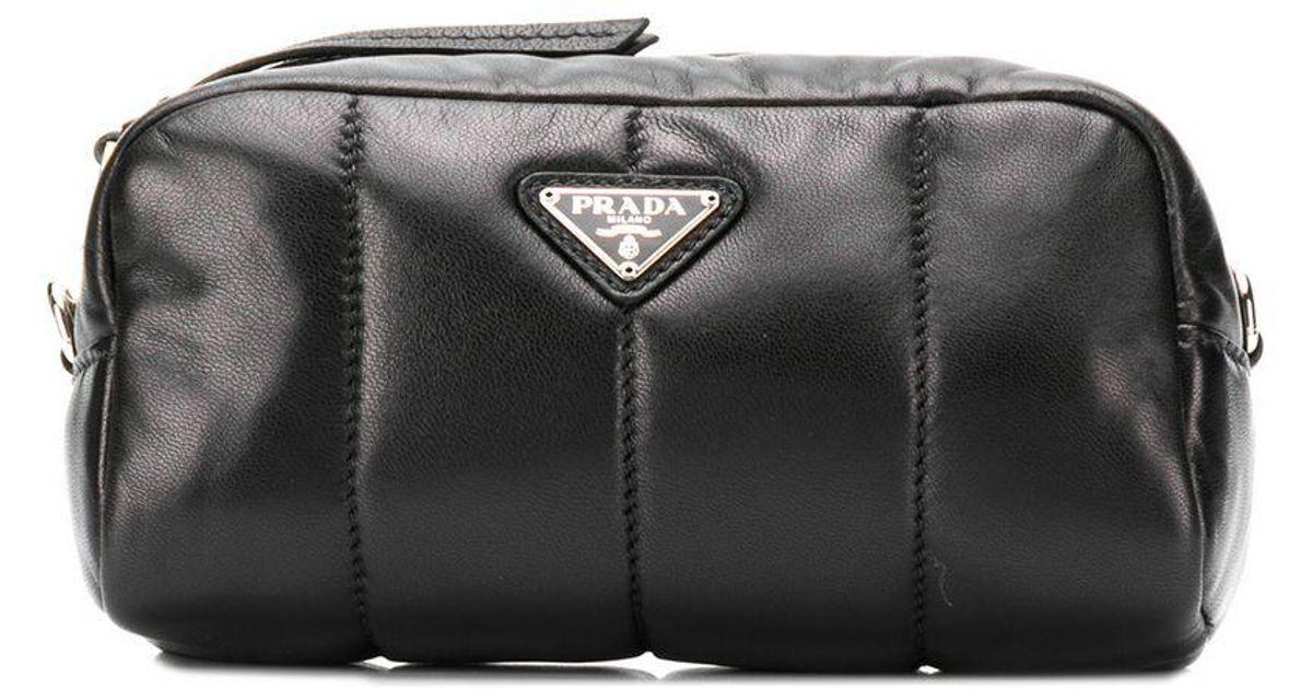 7e2cce91bd4c ireland lyst prada logo plaque makeup bag in black 6a195 ac227