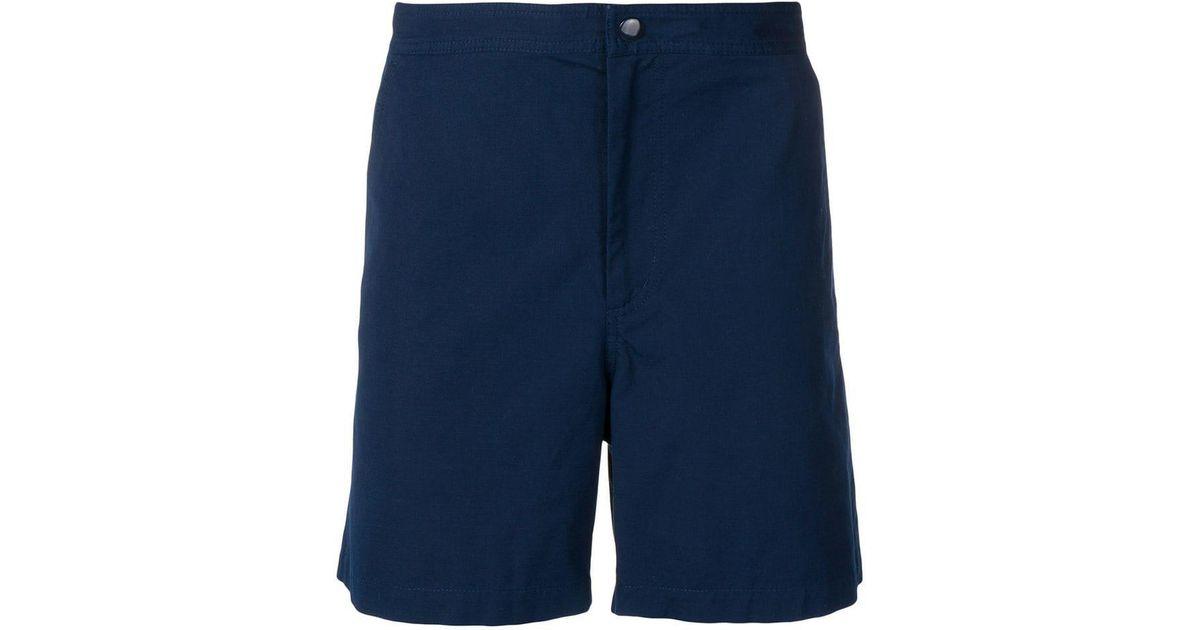 69c88bf700 Lyst - A.P.C. Poplin Shorts in Blue for Men