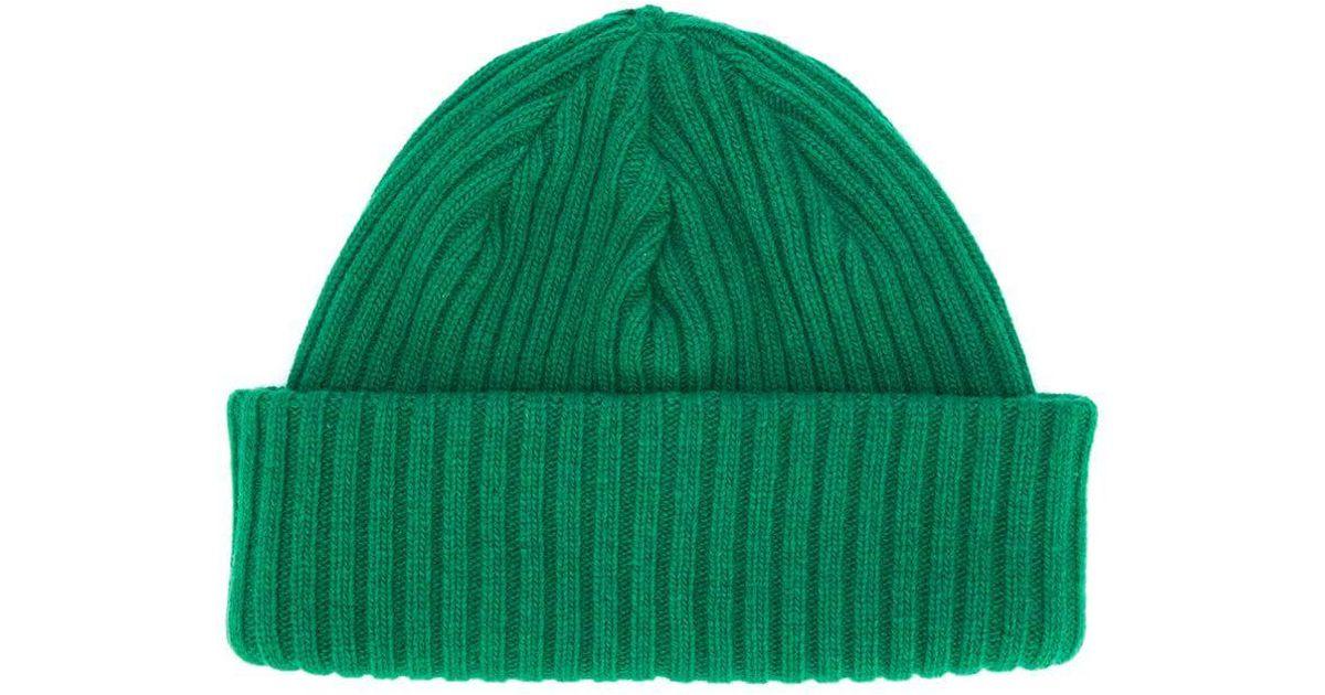 38a56285ec9 DIESEL Shortened Knitted Hat in Green - Lyst