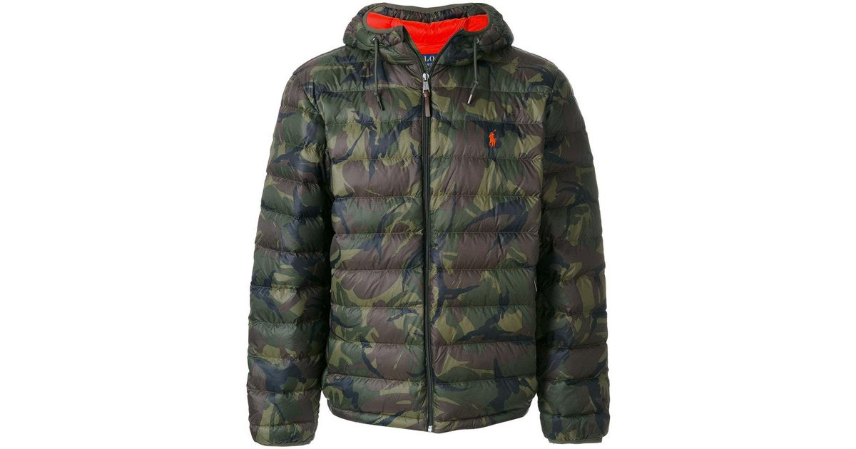 Men Ralph Green Polo Lauren Padded Camouflage Jacket For lK1FTJc