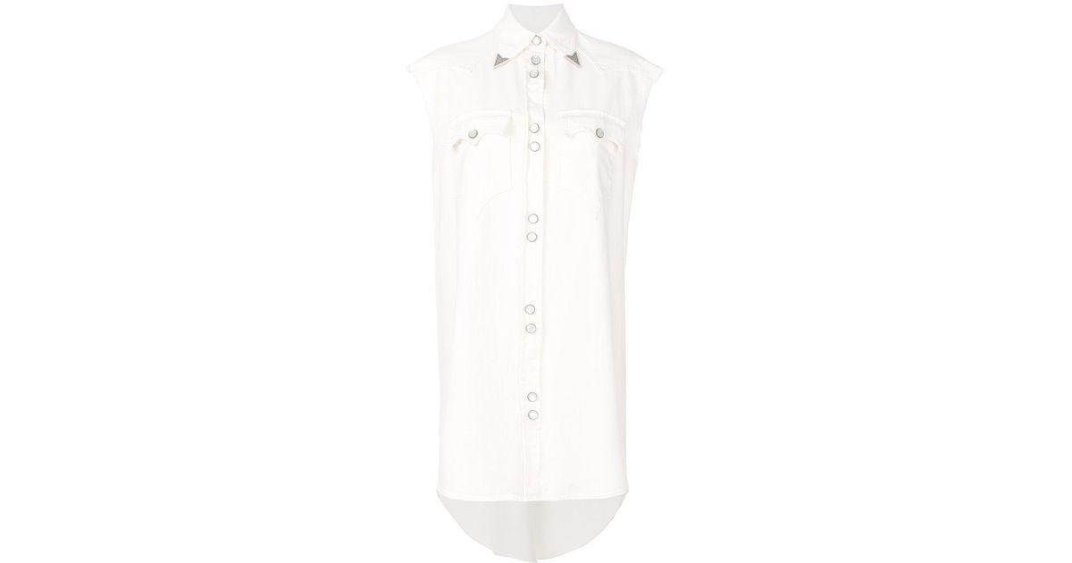 wing tipped sleeveless western dress - White Maison Martin Margiela yJ9fnOWz