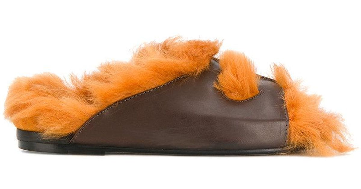shearling sandals - Brown Anya Hindmarch Ov5a1NM
