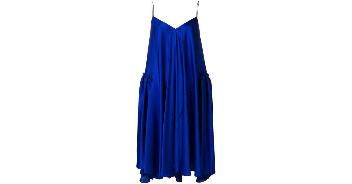 flared mini slip dress - Blue Maison Rabih Kayrouz SSQF1BqSb
