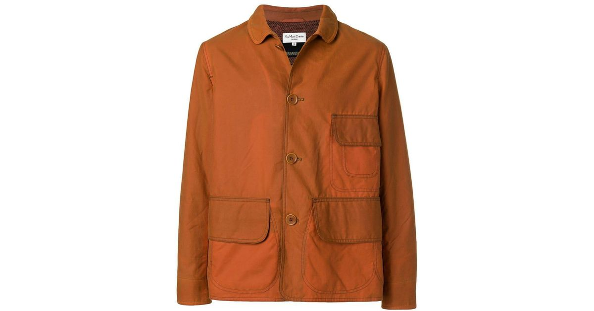 Orange Pocket Lyst Three Ymc Shirt In Men Jacket For SgSYqZRwx