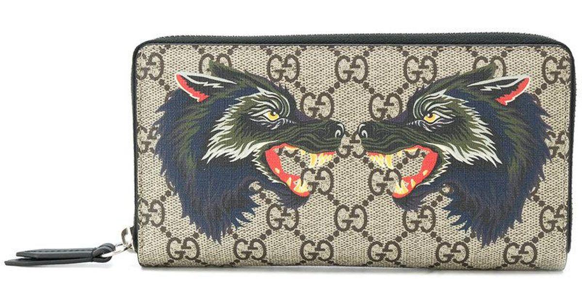 b130c60760 Gucci Multicolor Gg Supreme Wolf Wallet