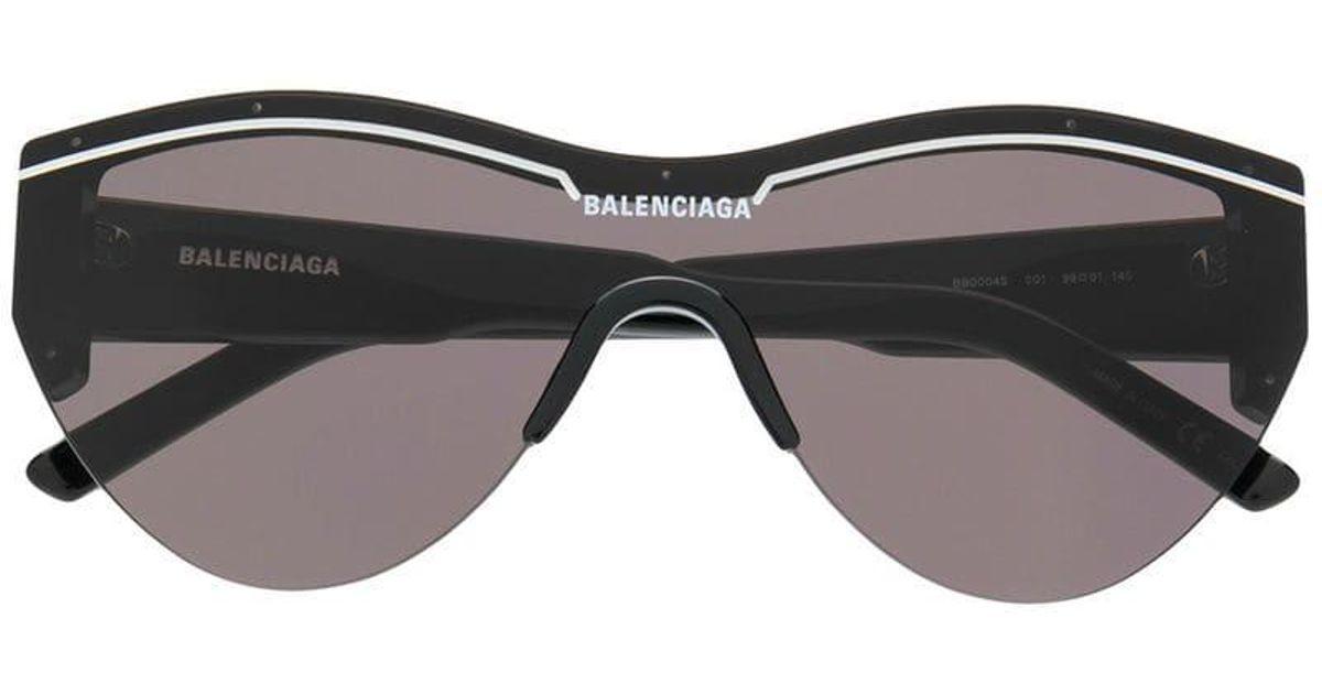 4672fc512c Lyst - Balenciaga Oversized Logo Sunglasses in Black
