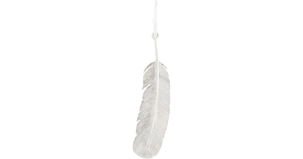 Wouters & Hendrix My Favourite feather earring - Metallic