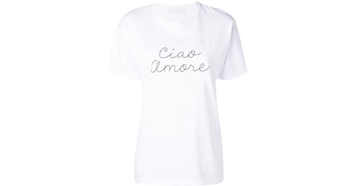 Giada Benincasa Ciao Amore T Shirt In White Lyst