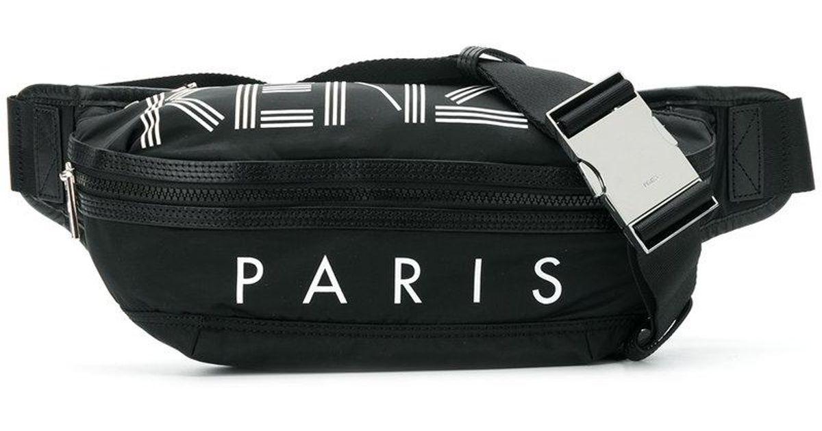 a97d0da9 KENZO Black Logo Belt Bag for men