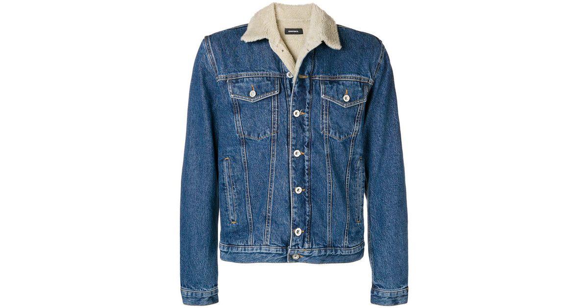 5849e7c35b35b Lyst - DIESEL D-gioc-fur Denim Jacket in Blue for Men - Save 44%