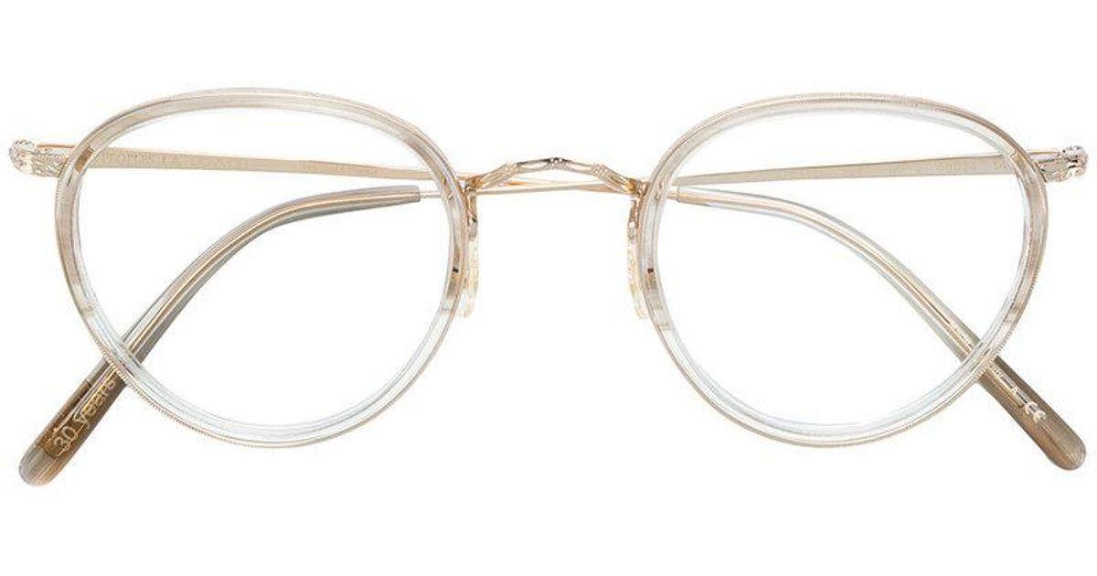 45de195573a Oliver Peoples Mp-2 Round Frame Glasses in Metallic - Lyst