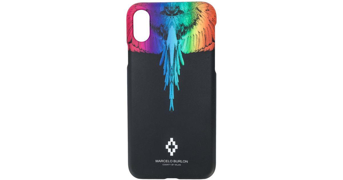 Marcelo Burlon Black Rainbow Wings Iphone X Case