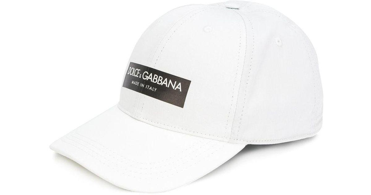 4918a5339 Dolce & Gabbana White Logo Patch Baseball Cap for men