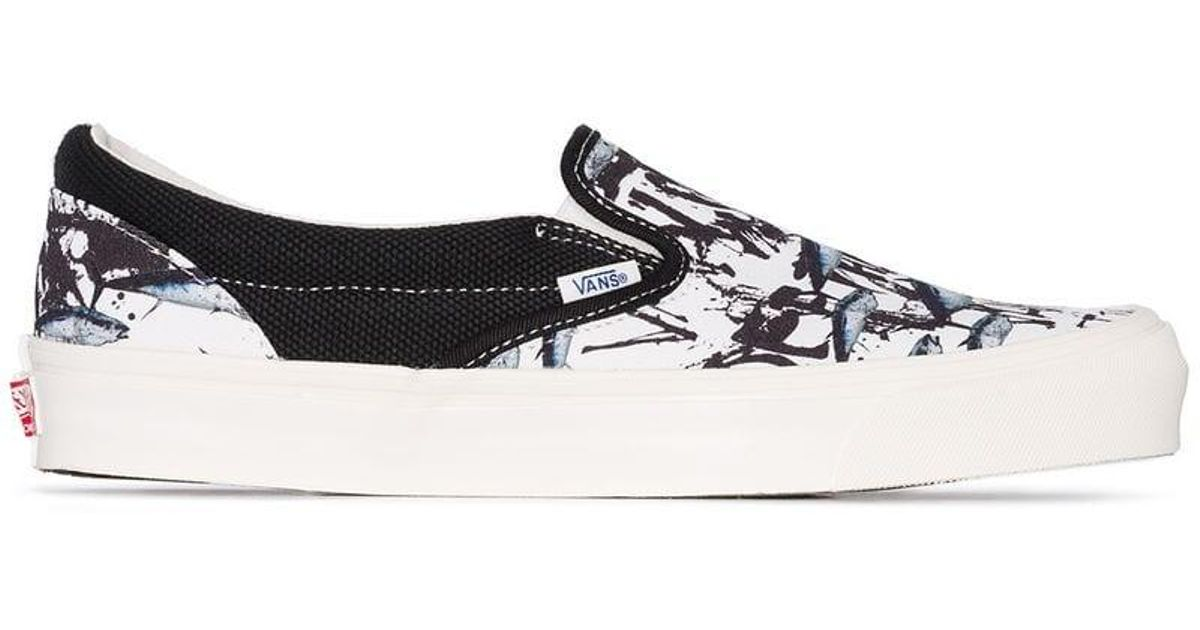timeless design 394cb 15852 Vans X Ralph Steadman Tuna Print Sneakers in White for Men - Lyst