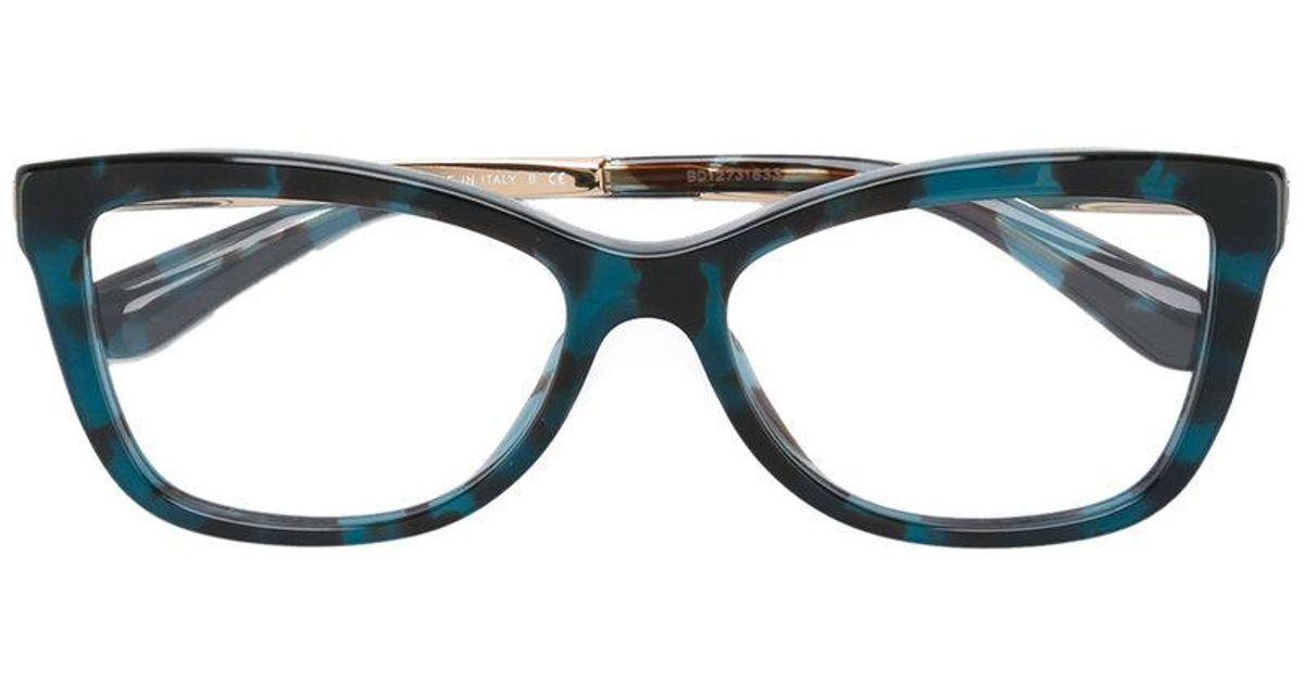 52f8ca854b1 Dolce   Gabbana Rectangle Frame Glasses in Blue - Lyst