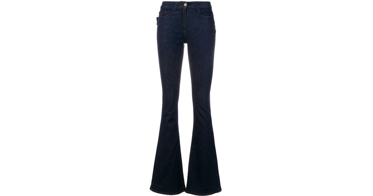 skinny-fit flared jeans - Blue Edward Achour Paris jqtvIO