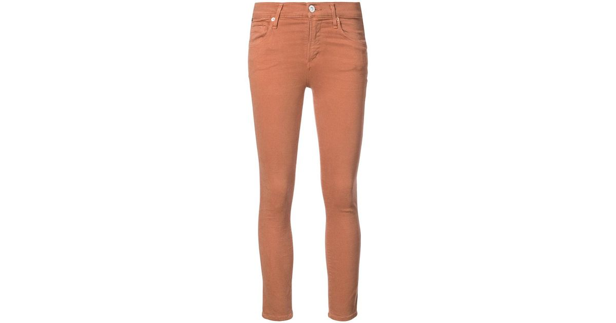 ankle crop jeans - Yellow & Orange Citizens Of Humanity sk61Nr7oaW