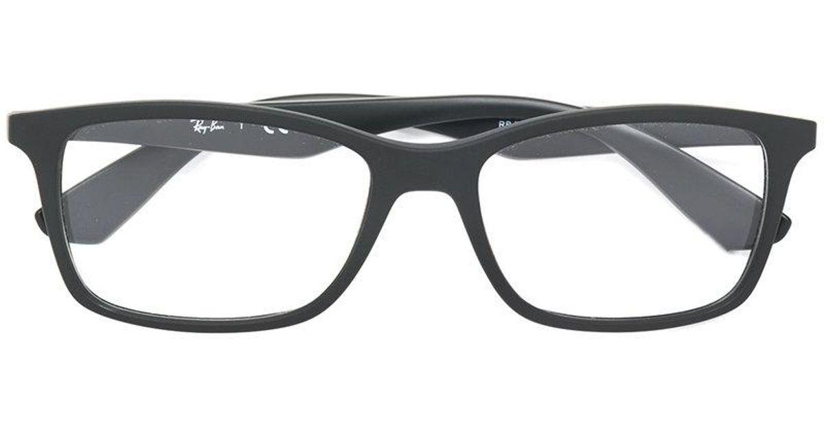 Ray-Ban Rectangle Frame Glasses in Black for Men - Lyst