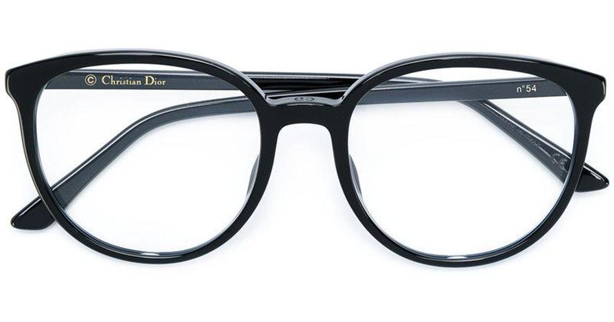 Lyst - Dior Round Frame Glasses in Black