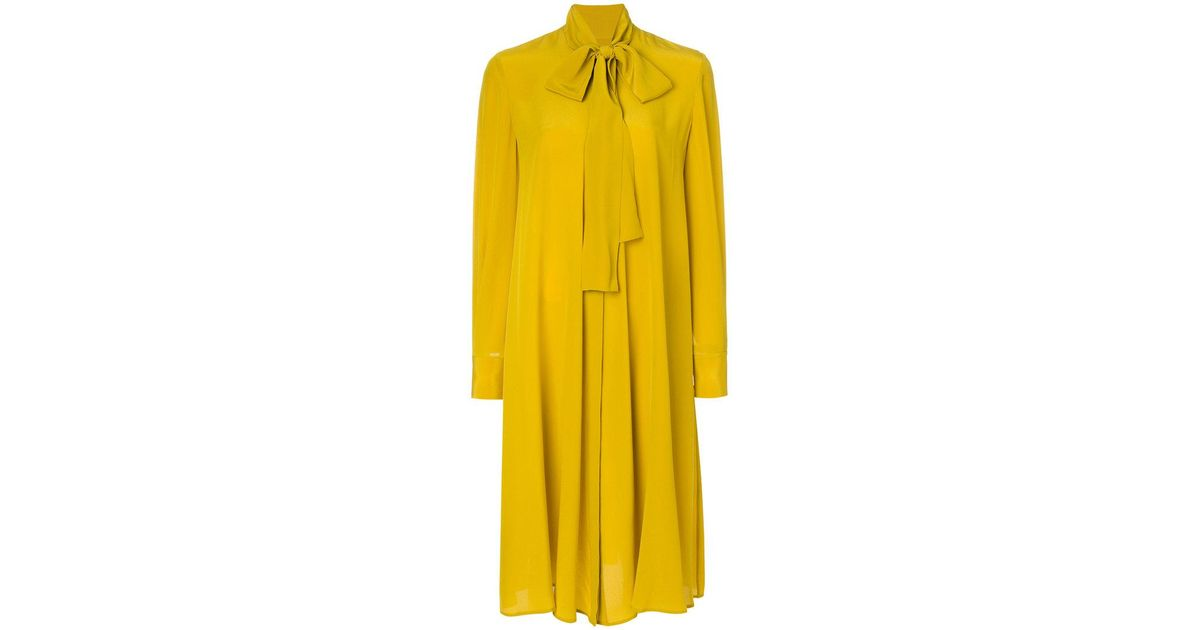 Perfect Sale Online pussy-bow dress - Yellow & Orange Alexander McQueen Authentic Buy Cheap 100% Authentic Discount Wide Range Of fRn1nl