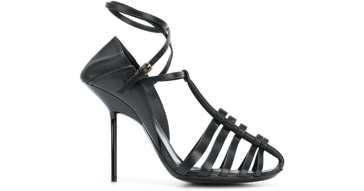 2aa38dc04cab Lyst - Saint Laurent Inez Sandals in Black