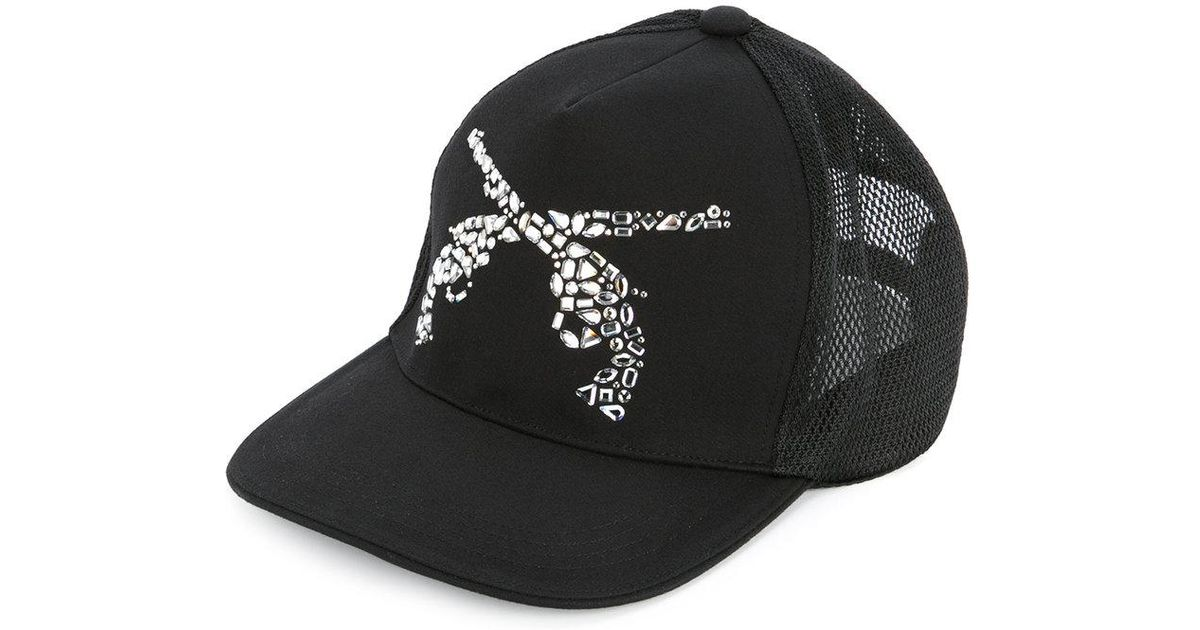 best sneakers a3157 1d438 Roarguns Embellished Guns Cap in Black for Men - Lyst