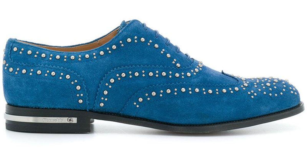 embellished Burwood lace-up shoes - Blue Churchs f68zidZmJ