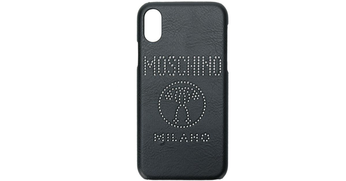 uk availability 0f012 f1314 Moschino Black Logo Iphone X Case
