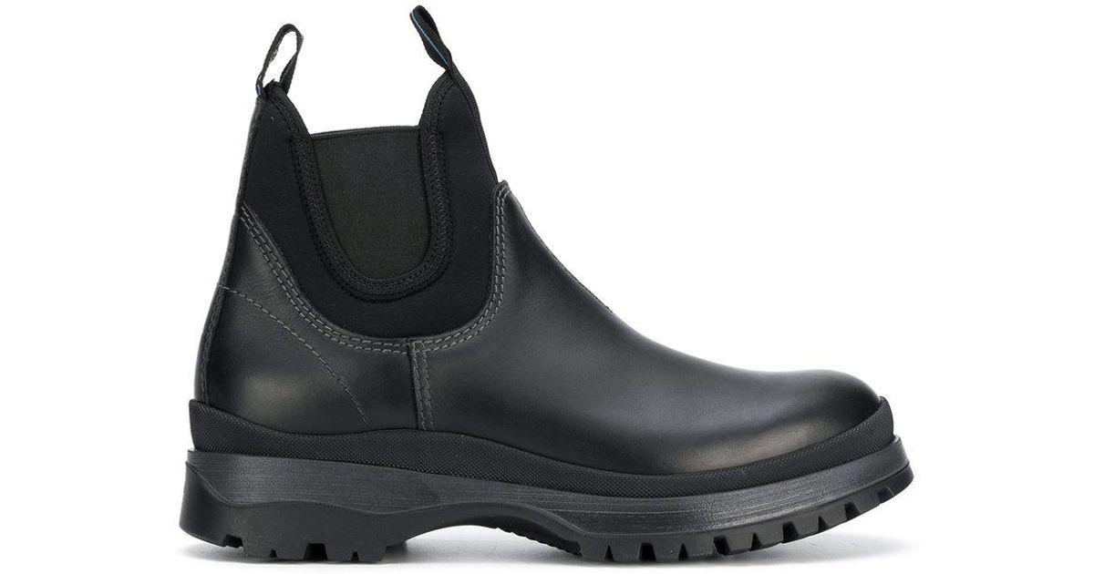 fa7b1b12f26 Prada Black Brixen Rain Boots for men