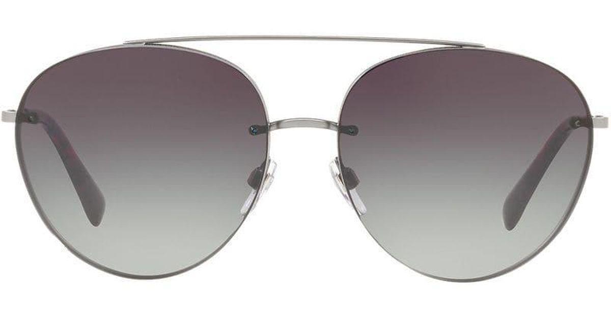 Gray Lyst Valentino Eyewear Gradient Aviators In PWxFvqT