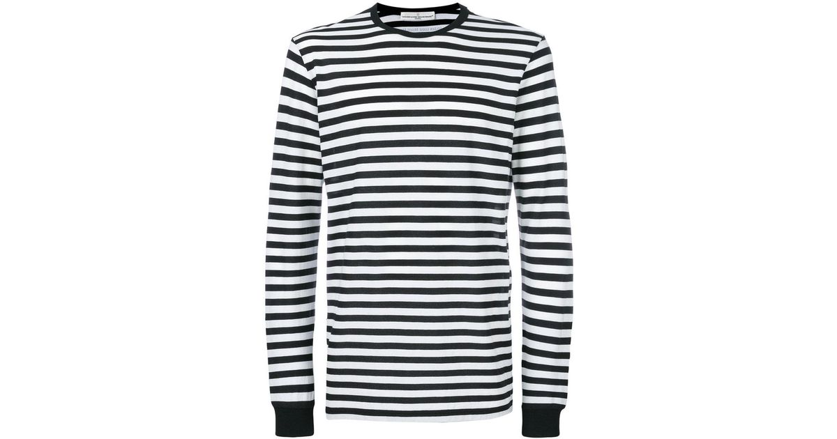 a5c8e994 Golden Goose Deluxe Brand Striped Long Sleeve T-shirt in Black for Men -  Lyst