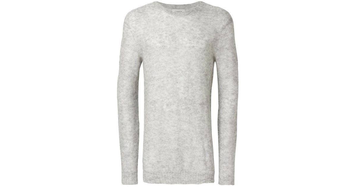 LANEUS Crew neck sweater M7PTafCqFX