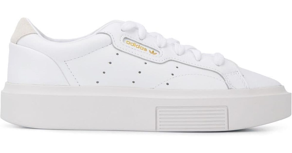 adidas Leather Lace-up Logo Sneakers in