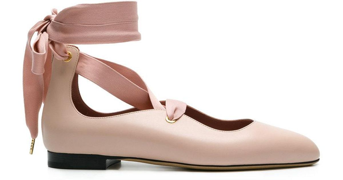 Bally Leather Lavin Lace-up Ballerina
