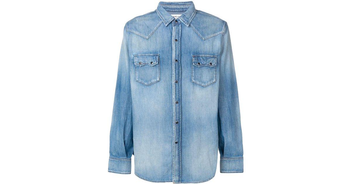 969d120d87 Saint Laurent Blue Western-style Denim Shirt for men