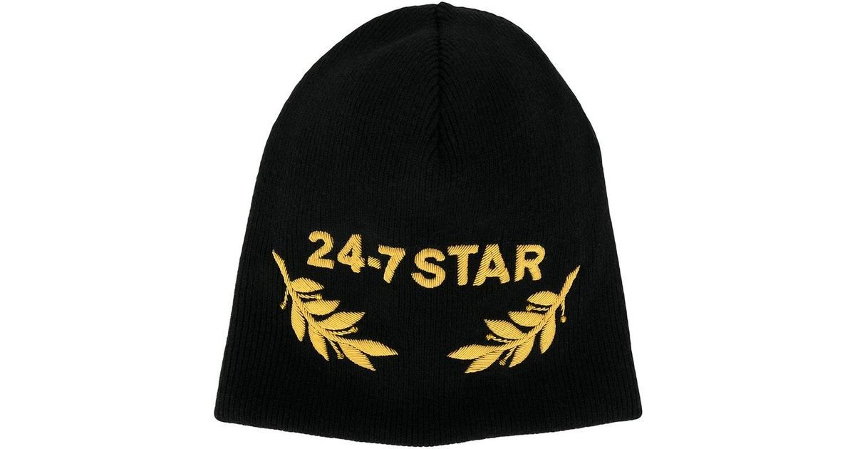 af19718f86c DSquared² 24-7 Star Beanie in Black for Men - Lyst