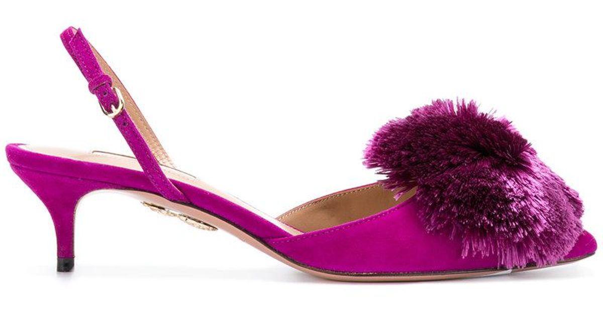 Powder Puff pumps - Pink & Purple Aquazzura LqTrCoPpv