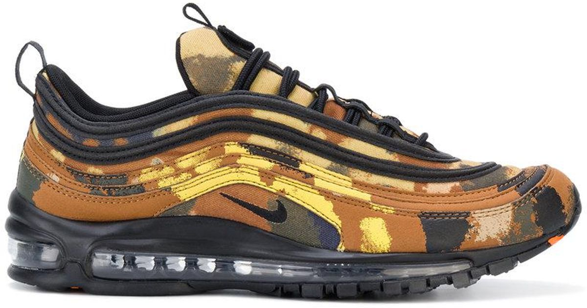 new product 7af81 f191f Nike Brown Air Max 97 Premium Qs Country Camo Sneakers