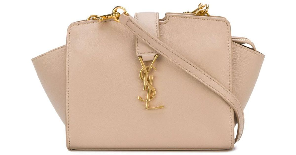 642241b6b1 Saint Laurent Toy Ysl Cabas Bag in Natural - Lyst