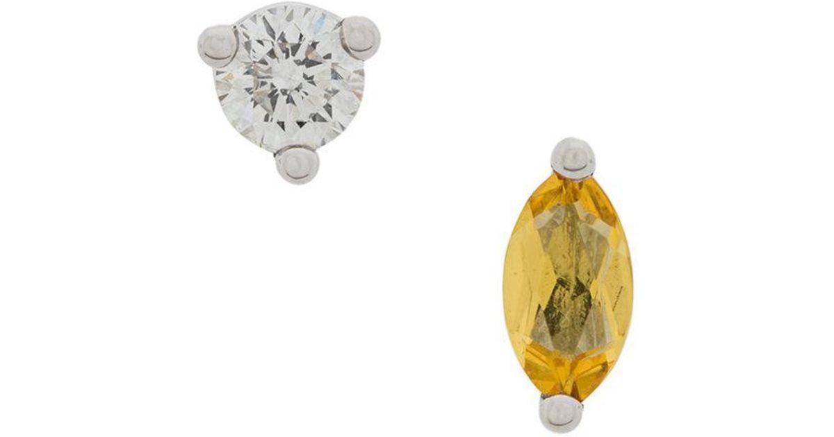 18kt gold Dots Solitaire amethyst earring - Blue Delfina Delettrez XNS07Gsxh