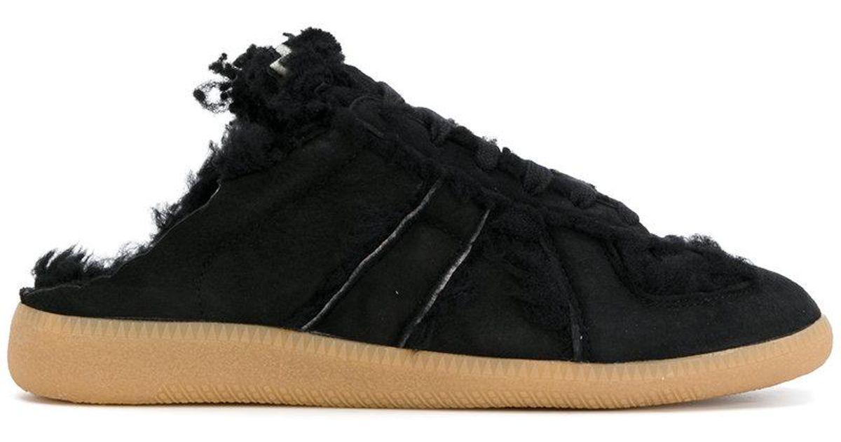 998728a0bbda5 Maison Margiela Replica Mule Sneakers in Black - Lyst