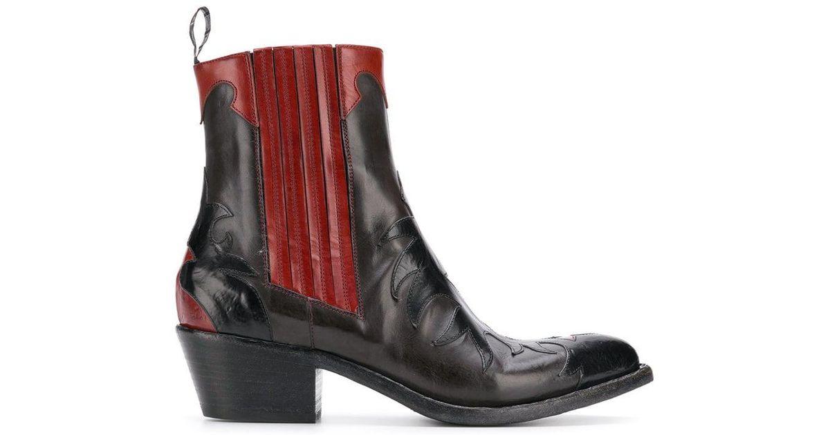 41c12359e Lyst - Botas estilo cowboy Sartore de color Negro