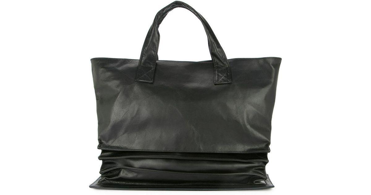 Yohji Yamamoto Accordion Tote Bag in Black - Lyst 700fb9b4acd07