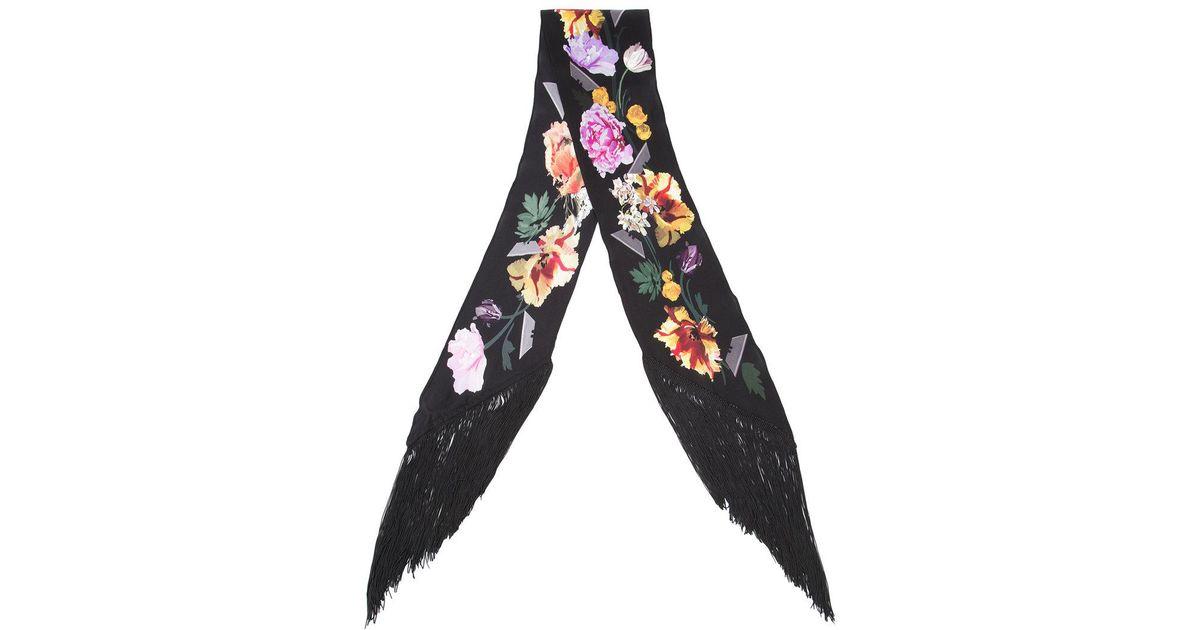Lyst - Foulard Flora Rockins en coloris Noir a62261676c5