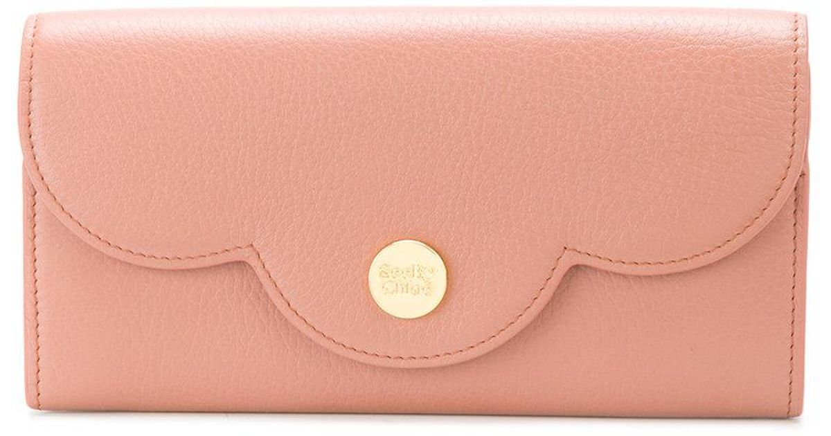 ac3a07e6f4 See By Chloé Pink Polina Long Wallet