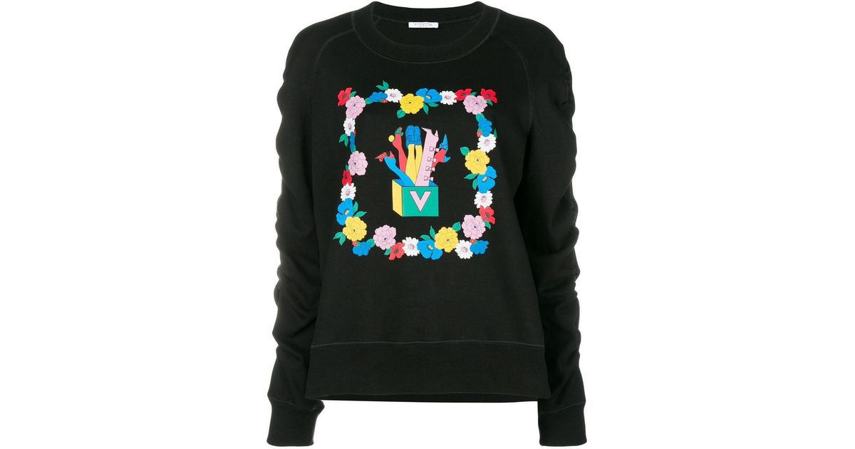 Vivetta Black In Yates Lyst Sweatshirt BxaqCgCw