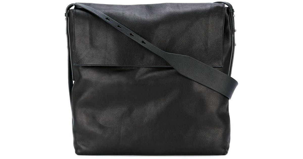Lyst - Rick Owens Oversized Shoulder Bag in Black for Men 19d997e8e243a